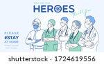 frontline heroes  professional... | Shutterstock .eps vector #1724619556
