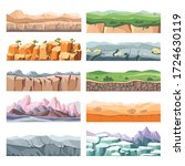 landscapes with different... | Shutterstock .eps vector #1724630119
