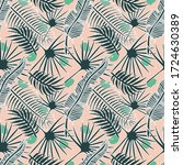botanical seamless pattern.... | Shutterstock .eps vector #1724630389