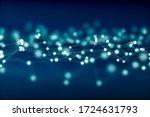 abstract net concept   3d... | Shutterstock . vector #1724631793