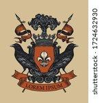 vector heraldic coat of arms... | Shutterstock .eps vector #1724632930