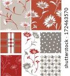 summer daisy seamless vector... | Shutterstock .eps vector #172463570