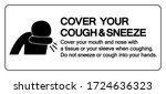 cover your cough and sneeze... | Shutterstock .eps vector #1724636323