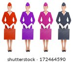 charming stewardess dressed in... | Shutterstock . vector #172464590