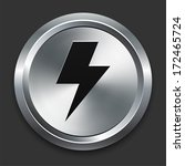 lightning bolt icon on metallic ... | Shutterstock .eps vector #172465724