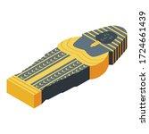 pharaoh mummy icon. isometric... | Shutterstock .eps vector #1724661439