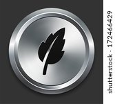leaf icon on metallic button... | Shutterstock . vector #172466429