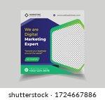 digital marketing social media... | Shutterstock .eps vector #1724667886