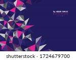 abstract triangle tech design... | Shutterstock .eps vector #1724679700
