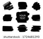 set of black ink strokes....