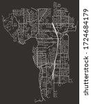 street map of kirkland ...   Shutterstock .eps vector #1724684179