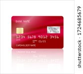 credit card vector with... | Shutterstock .eps vector #1724685679