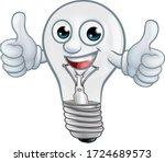 A Light Bulb Cartoon Character...