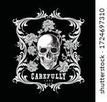 skull and baroque style... | Shutterstock .eps vector #1724697310