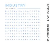 set color line icons of industry | Shutterstock .eps vector #1724701606