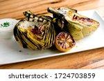 Grilled Artichokes. Artichokes...