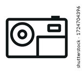 actions video camera black icon ... | Shutterstock .eps vector #1724704396