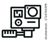 actions video camera black icon ... | Shutterstock .eps vector #1724704399