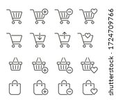 shopping cart and bags icons... | Shutterstock .eps vector #1724709766
