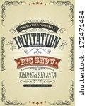 vintage invitation background ... | Shutterstock .eps vector #172471484