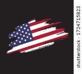 vector grunge flag of usa on... | Shutterstock .eps vector #1724715823