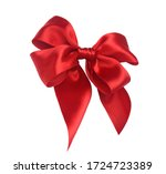 Red Ribbon Bow Isolated On...