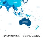 australia and southeast asia... | Shutterstock .eps vector #1724728309