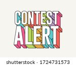funky typographical contest... | Shutterstock .eps vector #1724731573