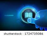 e learning. innovative online... | Shutterstock .eps vector #1724735086