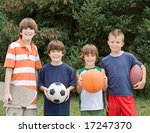 four different sports | Shutterstock . vector #17247370