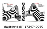 brochure template wave with... | Shutterstock .eps vector #1724740060