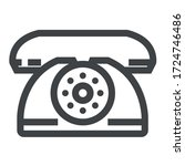 dial phone black icon on white... | Shutterstock .eps vector #1724746486