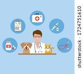 illustration of a veterinarian... | Shutterstock .eps vector #1724751610