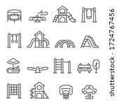 set of playground equipment... | Shutterstock .eps vector #1724767456