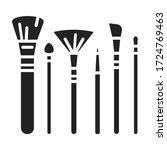 collection brushes black glyph...