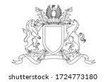a coat of arms crest heraldic... | Shutterstock .eps vector #1724773180