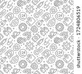 coronavirus related seamless... | Shutterstock .eps vector #1724806519