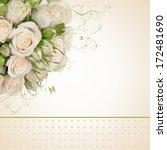 wedding flower card | Shutterstock . vector #172481690