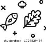 food fish salad vector flat...   Shutterstock .eps vector #1724829499