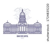 idaho state capitol located in... | Shutterstock .eps vector #1724835220