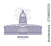 utah state capitol located in... | Shutterstock .eps vector #1724835223