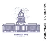 oklahoma state capitol located... | Shutterstock .eps vector #1724835226