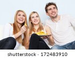 group of young people eating... | Shutterstock . vector #172483910