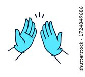 two hands in surgical latex...   Shutterstock .eps vector #1724849686