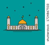 line art mosque. vector... | Shutterstock .eps vector #1724867533