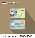 the netherlands identity card.... | Shutterstock .eps vector #1724869306
