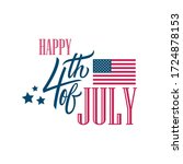 usa independence day  4th of... | Shutterstock .eps vector #1724878153