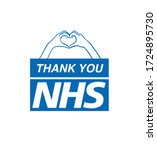 thank you nhs  stay at home ... | Shutterstock .eps vector #1724895730