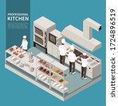 professional kitchen equipment... | Shutterstock .eps vector #1724896519