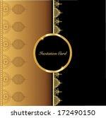 vintage vector card design for... | Shutterstock .eps vector #172490150